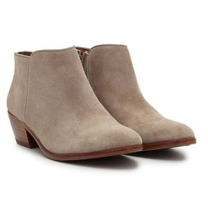 Sam Edelman Petty Ankle Bootie in Tan-Putty Suede